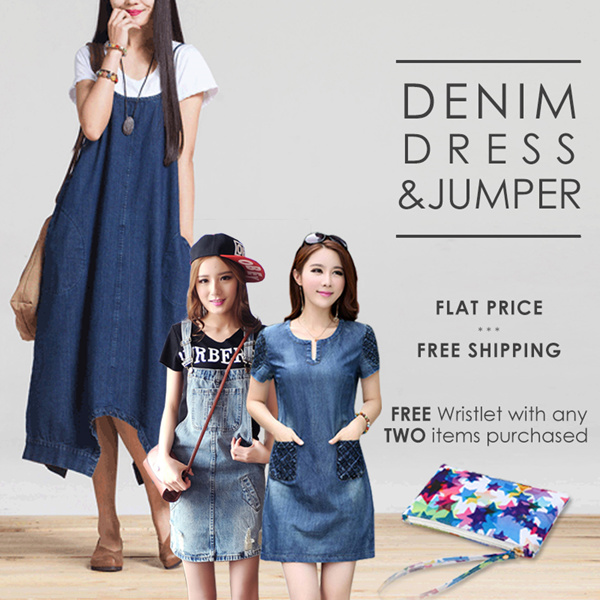 //FLAT PRICE// Women Denim Fashion Available In Different Design And Size Deals for only S$35.9 instead of S$0