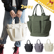 ★Factory★ Stylish Canvas 2way bags for Women/ Fashion Shoulder^Tote^Messenger Bag- 4 colors