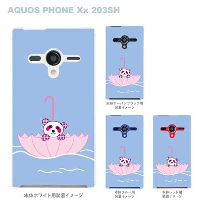 【AQUOS PHONEケース】【203SH】【Soft Bank】【カバー】【スマホケース】【クリアケース】【Clear Fashion】【アニマル】【パンダ】 22-203sh-ca0052の画像
