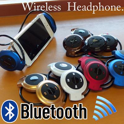【Skype通話対応】Bluetoothヘッドホン ブルートゥース スマホで通話も音楽も楽々ワイヤレス♪ iPhone6/iPhone6PLUS対応 iPhone5s マイク付ヘッドフォン ハンズフリーチャット ヘッドセット イヤホン【メール便送料無料】超簡単ペアリング!の画像