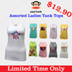 [Paul Frank] Promotion! Only $12.90! Women Fitted Tank Tops! Cotton/Spandex. Many designs/sizes!