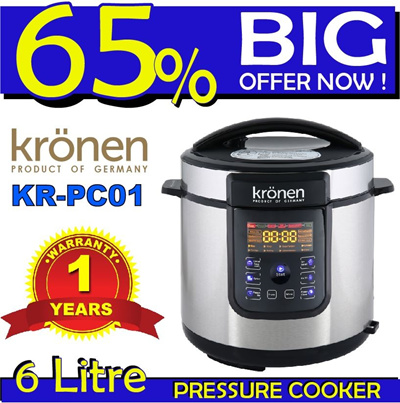 Buy [KRONEN 6 LITRE DIGITAL PRESSURE COOKER KR-PC01] READY STOCK IN SG LOWEST PRICE IN ...