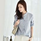 2015 new autumn fashion simple shirt collar shirt