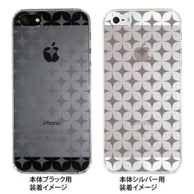 【iPhone5S】【iPhone5】【Clear Arts】【iPhone5ケース】【カバー】【スマホケース】【クリアケース】【チェック・ボーダー・ドット】【レトロスター】 08-ip5-ca0099の画像