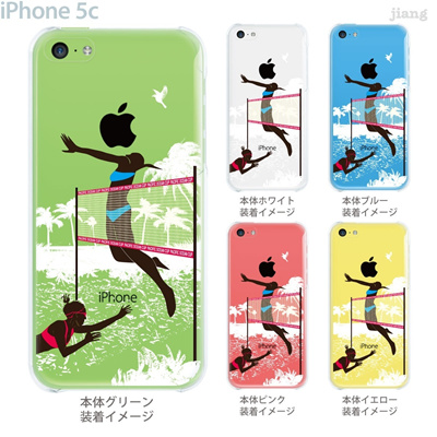 【iPhone5c】【iPhone5cケース】【iPhone5cカバー】【iPhone ケース】【クリア カバー】【スマホケース】【クリアケース】【イラスト】【クリアーアーツ】【ビーチバレー】 01-ip5c-zec064の画像