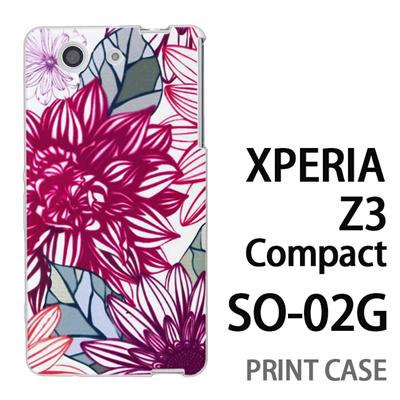 XPERIA Z3 Compact SO-02G 用『0310 満開の花ビラ 赤』特殊印刷ケース【 xperia z3 compact so-02g so02g SO02G xperiaz3 エクスペリア エクスペリアz3 コンパクト docomo ケース プリント カバー スマホケース スマホカバー】の画像