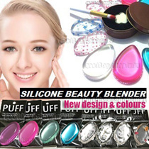 【$1.9 Each】 CHEAPEST IN QOO10! ❤ BEAUTY SILICONE PUFF MAKEUP BLENDER SPONGE ❤ Transparent Silisponge