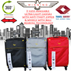 ★WINNING LUGGAGE #1428★ 20/24/28 inch ultra-light expandable canvas with anti-theft zipper and wheels with ball bearing technology