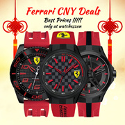 [CNY Best Price Guarantee ] Ferrari Mens Watches below $164.99