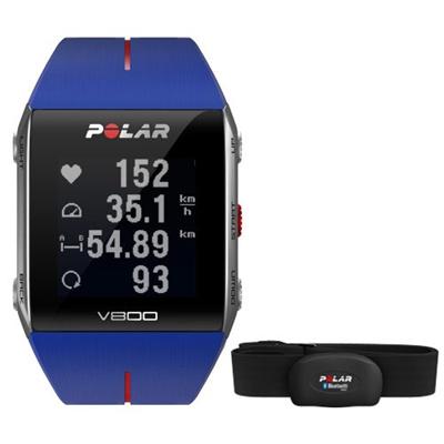 ◆即納◆ポラール(Polar) V800 HR GPS (心拍センサー付き) ブルー 90048947 【ランニングウォッチ 腕時計 トライアスロン 心拍計 活動量計 国内正規品】の画像