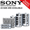 UNBELIEVABLE PRICE ~ SONY NEW Ultra Battery |40pcs of AA battery/ 40pcs of AAA battery/ 20pcs of C battery/ 20pcs of D battery ~ Local Seller