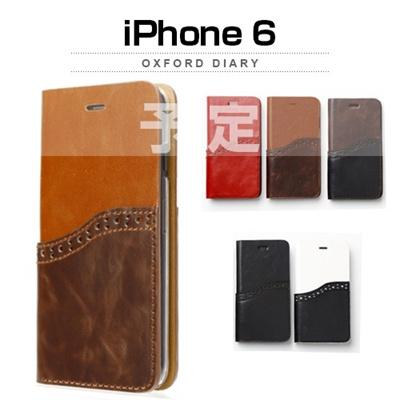 iPhone6カバーアイホン6 アイフォン6ケースiphoneケース アイフォン ブランド iphoneカバーiPhone6用 【iPhone6 4.7インチ 】ZENUS Oxford Diary (オックスフォードダイアリー)【メール便送料無料】の画像
