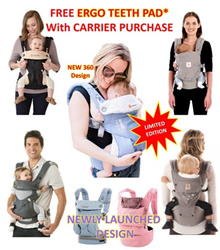 ❤ Baby Carrier Four Position 360 Cool Air ❤ Adapt/ Detachable HipSeat ❤ Organic Teething Pad/ Insert