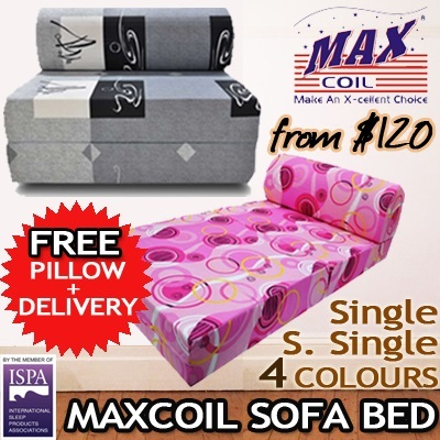 Buy Lowest Price Maxcoil High Density Foam Sofa Bed Sofabed Single And Super Single 3
