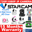 VStarcam IP Camera CCTV Night Vision Pan/Tilt Wireless High Defination Easy To Use Safety Mark