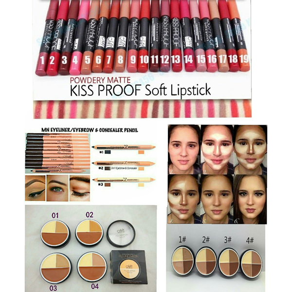 Buy Menow Kissproof Matte Lipstick/Menow Foundation Deals for only S$3.5 instead of S$3.5