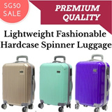 *SG50 LUGGAGE SALE* Lightweight Fashionable Hardcase 4 Wheel Spinner Luggage / Carry on / Suitcase / Travel Bag