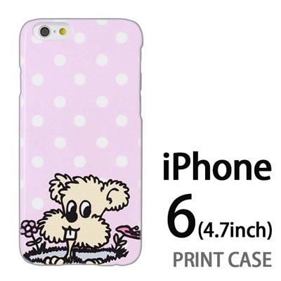 iPhone6 (4.7インチ) 用『0313 DOGドット ピンク』特殊印刷ケース【 iphone6 iphone アイフォン アイフォン6 au docomo softbank Apple ケース プリント カバー スマホケース スマホカバー 】の画像
