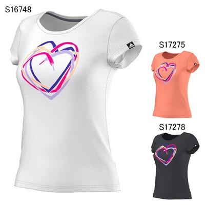 アディダス (adidas) レディース Graphic ハートTee JPD28 [分類:Tシャツ (レディース)]の画像
