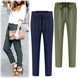 ★ Baggy pants 2-Type ★ waist banding ★ excellent stretch : Adjustable waist : Cool airy quality materials