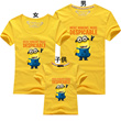 [Popular! Retrocession stock lowest challenge] ★ high quality cute Minions / Despicable Me / Tee / T-shirts / Kaito glue minion close call Despicable Me ★ parents and children all together ladies chil