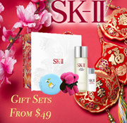 THERE IS STILL TIME! CRYSTAL CLEAR SKIN IN 14 DAYS. SK-II GIFT SETS!