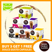 (Fresh Stock!) ◄ DOLCE GUSTO Coffee Capsules ► BUY 5 GET 1 FREE (Save 16%) 21 Flavours