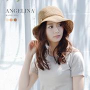 ラフィア 帽子 レディース ラフィアハット 麦わら帽子 紐付き ANGELINA 折りたたみ 紫外線対策 UVカット 女性