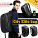 ◆1Kingsons® City Elite USB Laptop Backpack◆Out USB Connector/ Waterproof Business Bag/ Notebook PC
