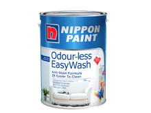 Nippon Paint Odour~less EasyWash  5L  Easy  Wash and Odourles 2 in 1 Premium Emulsion Paint