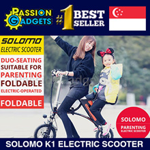 NEW! Solomo K1 Electric Scooter / Dual Seat / Parenting Foldable better than Bicycle / E-bike/Ebike