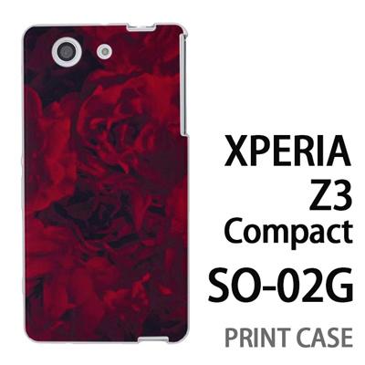 XPERIA Z3 Compact SO-02G 用『0311 薔薇 赤』特殊印刷ケース【 xperia z3 compact so-02g so02g SO02G xperiaz3 エクスペリア エクスペリアz3 コンパクト docomo ケース プリント カバー スマホケース スマホカバー】の画像