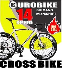 EUROBIKE RD-XC750 14 Speed Cross Bike/ Hexagram Frame/ Racing Handlebar