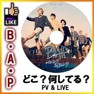 【韓流DVD】 B.A.P どこ?何してる? Where What are you doing PV  TV LIVE ◆K-POP DVD◆ BAP ビーエーピー 1004 Angelの画像