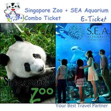 【99 TRAVEL】Singapore Zoo ( with Tram ride) E-ticket + SEA Aquarium E-ticket新加坡日间动物园电子票 + 海洋馆电子票