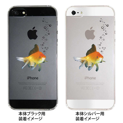 【iPhone5S】【iPhone5】【iPhone5】【ケース】【カバー】【スマホケース】【クリアケース】【金魚】 ip5-08-ca0029の画像