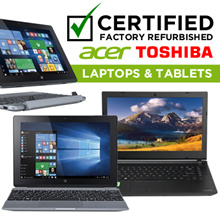 [CERTIFIED FACTORY REFURBISHED] Acer | Toshiba Laptop and Tablets Windows 10