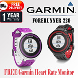 [FREE DELIVER] [1 YEAR WARRANTY]Garmin Forerunner 220 with FREE Heart rate monitor worth $180