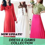 [TURUN HARGA] Koleksi Gamis Long Dress Maxi Set Hijab Cantik!! Beli Gamis dapat Hijab Blazer dll!! Tampil Muslimah dan Cantik :)