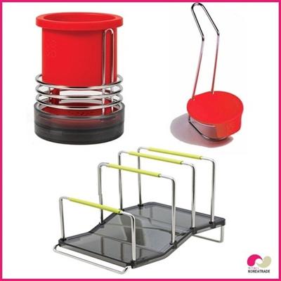 【日用品】 spider loc  kitchenキッチン3setA(red)の画像