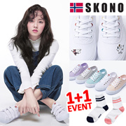 [SKONO] SNSで話題のスニーカー★ Norway brands canvas スニーカー 韓国の人気ブランド スニーカー/ランニングシューズスポーツシューズ パンプス靴 kpop