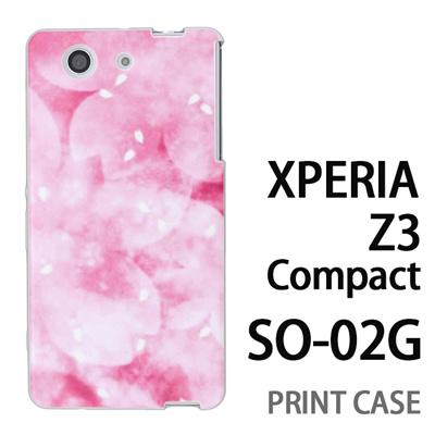 XPERIA Z3 Compact SO-02G 用『0312 かすみ桜 ピンク』特殊印刷ケース【 xperia z3 compact so-02g so02g SO02G xperiaz3 エクスペリア エクスペリアz3 コンパクト docomo ケース プリント カバー スマホケース スマホカバー】の画像