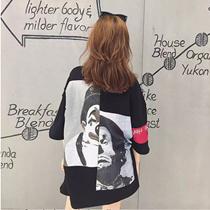 【★予約販売8/23販売予定★】クールなピエロパッチステッチのプリント半袖Tシャツ♬ 男性も女性もカップルにも好評♬ ハイストリートファッション♬ 韓国ファッション♬