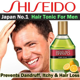 ★SALE★Shiseido Bravas Hair Tonic 180ml For Him!! Prevents dandruff/ itchiness/ and loss of hair!!