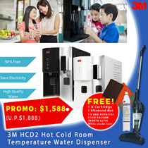 【3M】 HCD2 Hot Cold Room Temperature Water Dispenser - BPA Free / Reduce Chlorine / Save Electricity