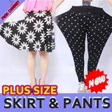 ★[Only Weekend Limited Time Sale]★ /PLUS SIZE/Free Gift/NEW ARRIVAL!! Women Baggy Pants/ Flare Skirt/Cotton Dress/L~4XL/One-piece Skirt/Skinny Pants/Leggings