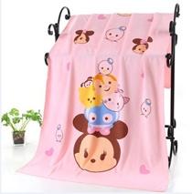 😍😍😍 Tsum Tsum Cartoon Towel (140cm x 70cm)