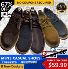 ★$39.90 ONLY! WITH SHOP+CART COUPON★NEW 2017 CASUAL SHOES★FREE SHIPPING★CROCODILE★JEFF ROWLAND
