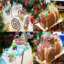 [Cake In Action] CHRISTMAS LOG CAKE 500G± / 1.2KG± Attractive Price !