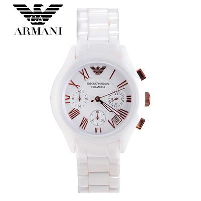 【クリックで詳細表示】EMPORIO ARMANI エンポリオ アルマーニ AR1416 腕時計 レディースセラミック ホワイト メンズ watch ユニセックス 新品 超特価 時計 送料無料 クロノグラフ 正規輸入品